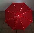 China Factory Cool flashing Popular LED light up Umbrella with torch handle