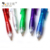 Promotional Gift Full Color Clear Transparent Plastic Ball Points Pen With Clip