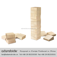 Kids wood toy blocks, children building blocks, toy building bricks 3d stacking puzzle