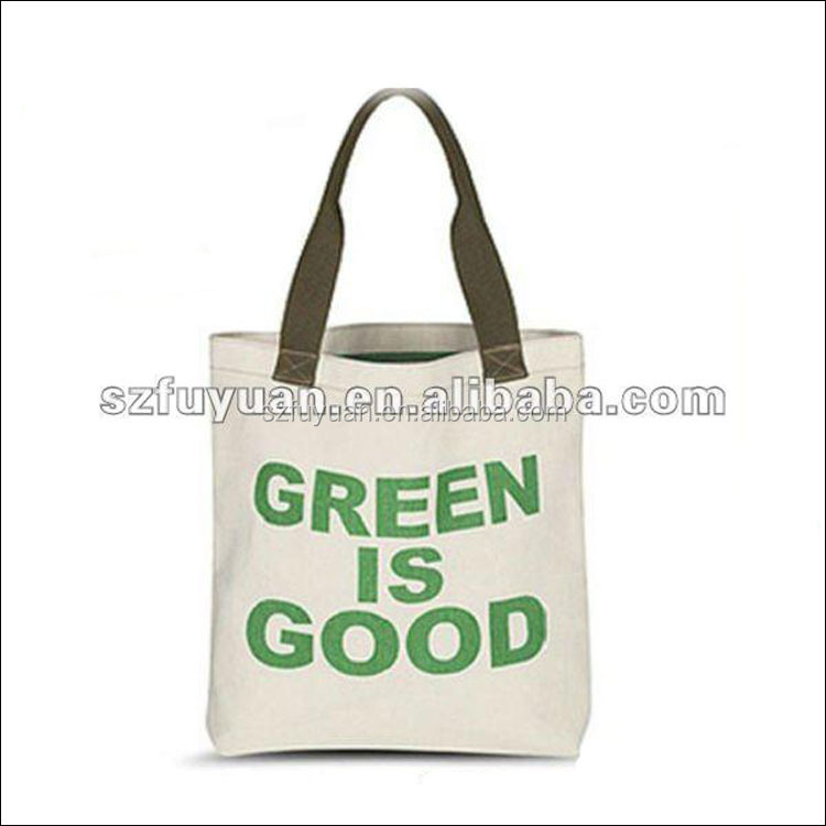 Custom factory price canvas recycle shopping bag with custom logo print
