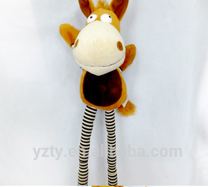 China supplier stuffed toy promotion gift home decoration stuffed animal toy plush hanging happy horse toy
