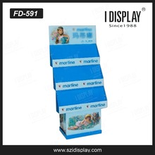 quality assured portable t-shirt floor display stand cardboard advertising display