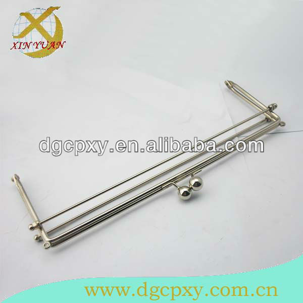 nickel metal wire sew on frame for bags