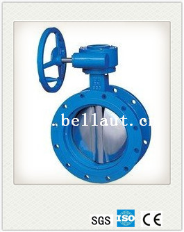 ductile iron flange soft sealing butterfly valve