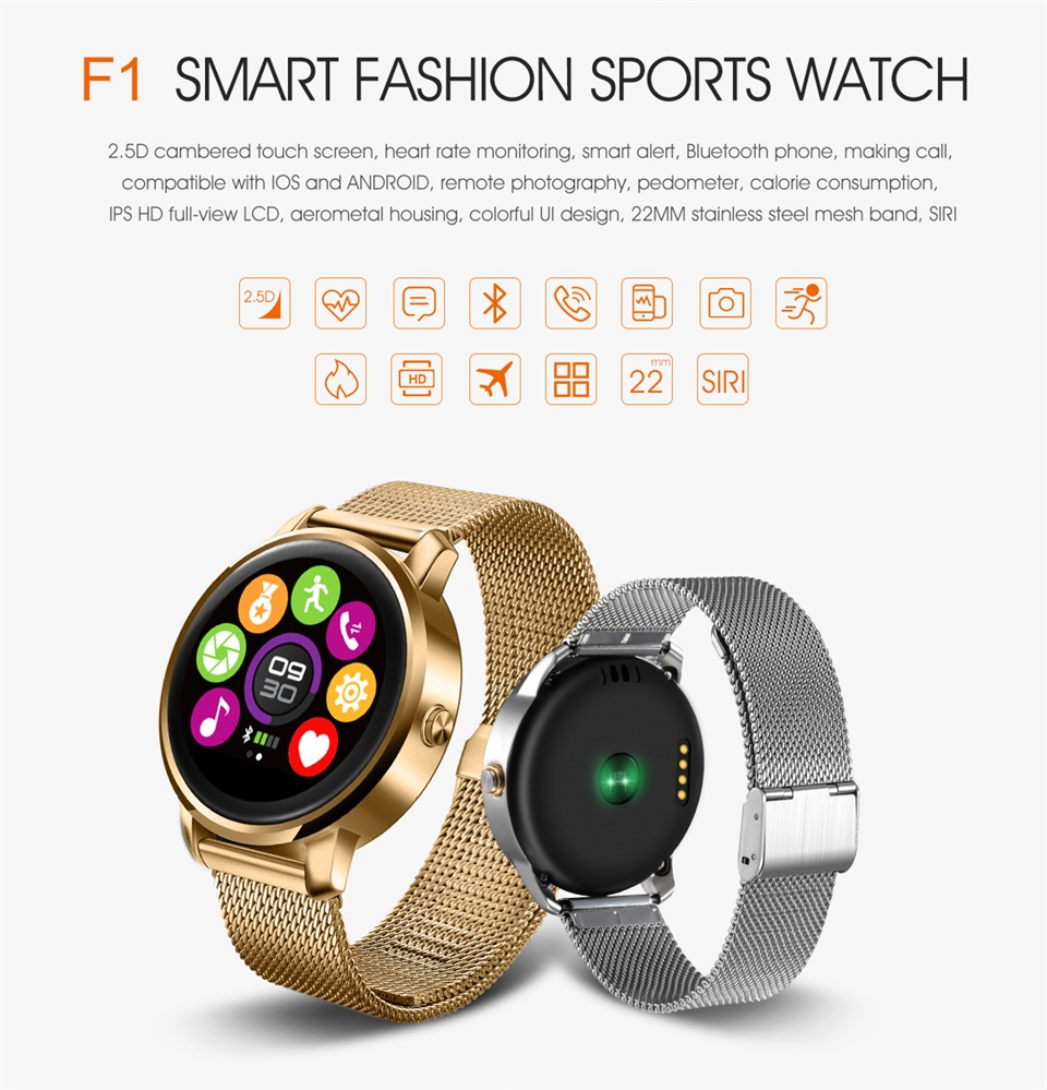 New design digital bluetooth android smart watch with high quality