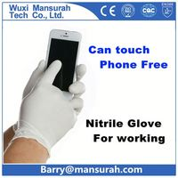 POWERTY light weight grey nylon liner coated black foam nitrile glove/working glove/safety glove