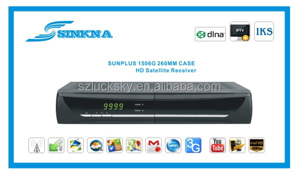 Full HD Sunplus 1506G DVB S2 With IKS,Support USB WiFi/IPTV