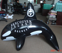 Hot selling outdoor display item Ocean animal inflatable shark shape model with custom design
