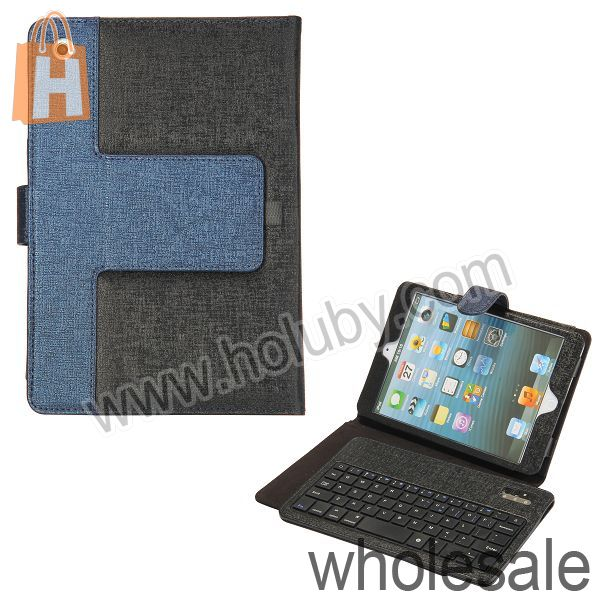 For iPad Mini Detachable Bluetooth Keyboard, Stand Holder Bluetooth Keyboard Leather Case for iPad Mini