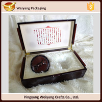 Wood crafts and luxury gift packaging boxes wooden tea cup boxes