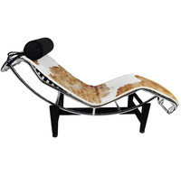 leather Le Corbusier LC4 lounge chair