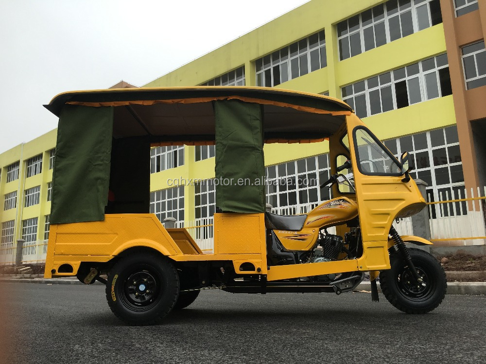 Best popular rickshaw 200cc three wheel scooter passenger tricycle for Bangladesh market