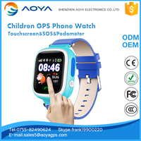 2016 new mini touchscreen children kids gps tracker mobile watch phone