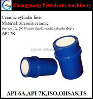 api 7k ceramic cylinder liner for mud pump part