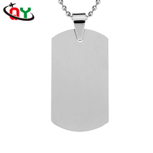 New Design Promotional Custom Military Dog Tag Silver Blank Metal Dog Tag Necklace