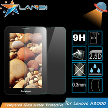 Factory price Tablet screen protector for lenovo A3000 Ultra thin 0.26mm Premium Tempered Glass 7 inch Screen Protector Film