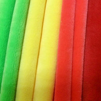 High Quality 100% Polyester Super Soft Velboa Fabric For Toys Material made in china
