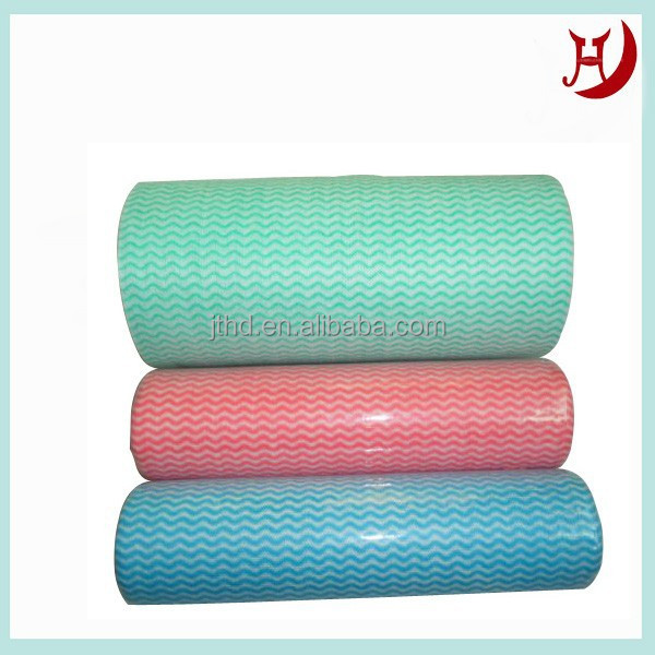 Spunlace nonwoven tissue cloth for bag making