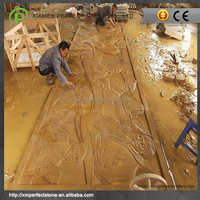 Sandstone Wall Mural For Hand Carved