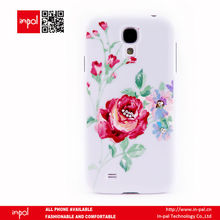 imprint floral rhinestone mobile phone cover for samsung galaxy s4