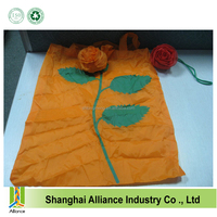 Alibaba 190T Polyester Rose Reusable folding shopping bag
