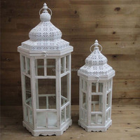 birthday candle holder table wooden lantern for home decoration