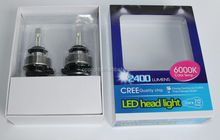 High Power!!!CRE E 2400LM 24w 6000K 9005/9006/h1/h3/h4/h11 h7 1800 lm car Cre e LED headlight