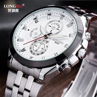 LongBo Hot! Super popular in western market Chronograph for decorate EXW price low moq watches