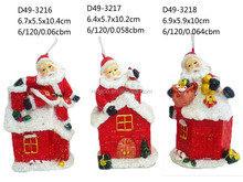 Christmas santa figure candle for sale