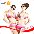 Flower Design Sexy Bikini Flat Bottom Summer Women Bikini Set