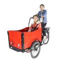 danish family children cheap moped cargo tricycle bike with three wheels