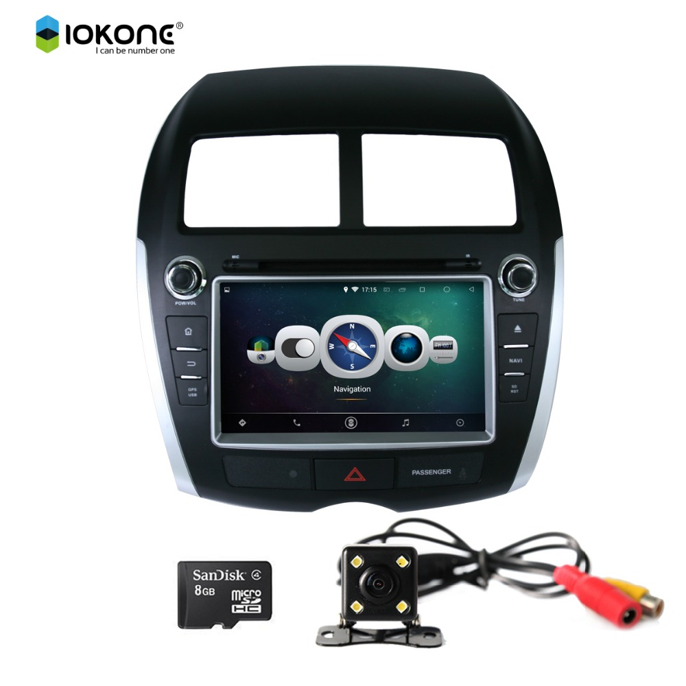 iokone Android 4.4 multi-touch screen 2 din 8 inch car dvd player for MITSUBISHI ASX 2010 2011 2012 with gps
