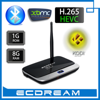 Best manufacturer offer high quality Amlogic S805 Quad core XBMC Kodi installed with bluetooth H.265 Android 4.4 smart TV Box