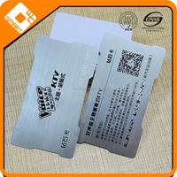 Plastic Printing Brushed Silver Barcode VIP Business Membership Loyalty Card