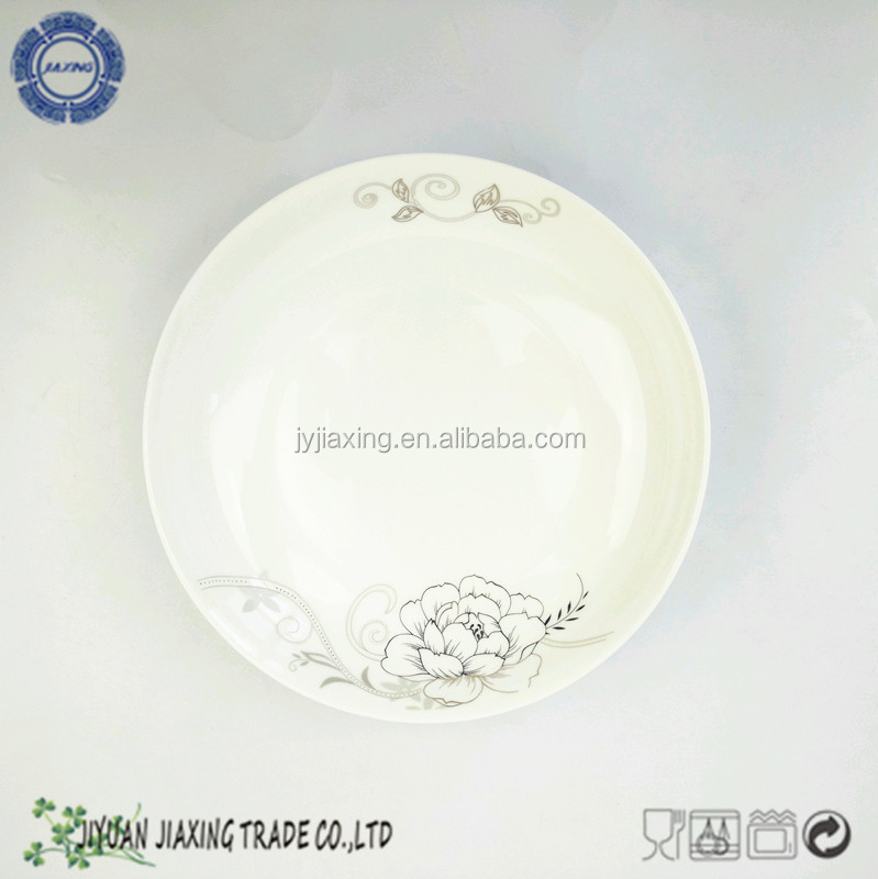 ceramic new bone china heated round cake serving plate wihtout cover