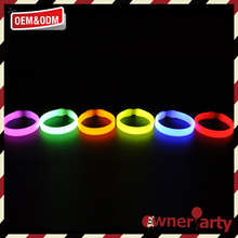 High quality durable using glow in the dark rubber band bracelets