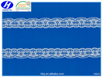 Hongtai quality unique light motif embroidered teal lace trim