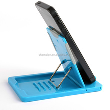 Creative portable foam cell phone holder stand