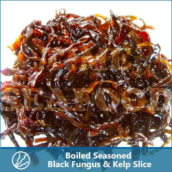 Boiled Seasoned Black Fungus & Kelp Slice