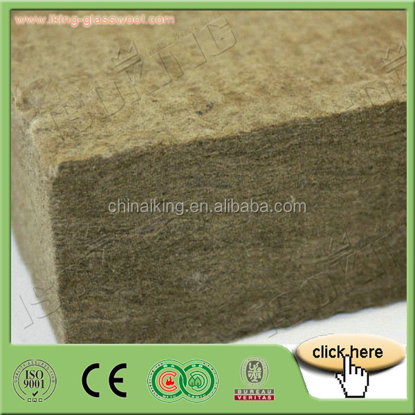 Rockwool Temperature Resistance Rockwool Insulation panel/Board With CE For Prefabricated Modular Houses