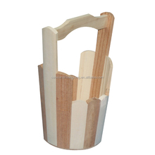 2016 hot sale wooden rice bucket,small cheap used wooden barrel/bucket