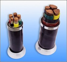 Copper conductor insulated steel wire armored power cable