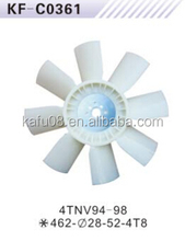 Yanmar 4TNV94 diesel engine cooling fan blade for excavator OEM Made in China