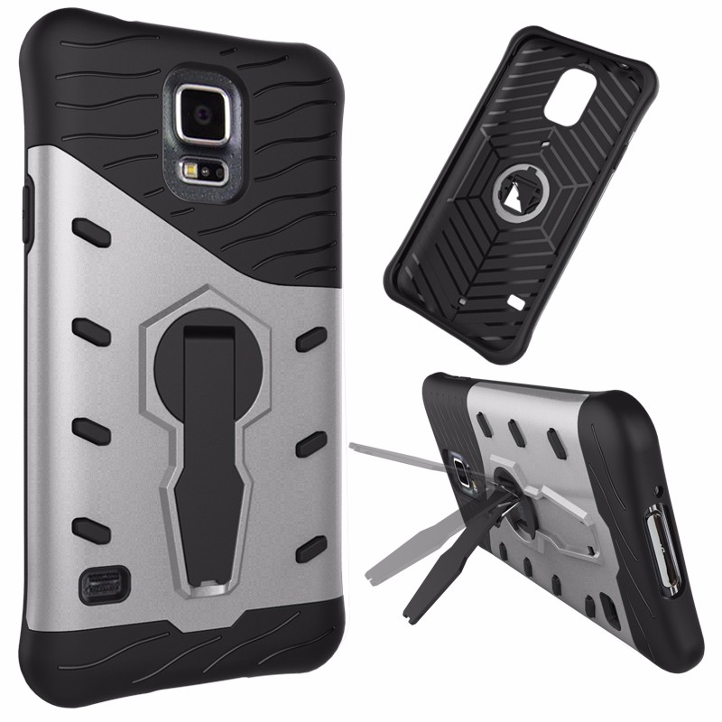 2 in 1 Rugged Shockproof Hybrid Kickstand Case For Samsung s5, For Samsung s5 Combo Case