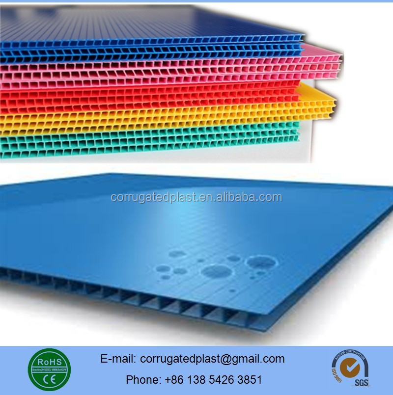 Polypropylene PP Plastic Twin Wall Fluted Sheets/Board