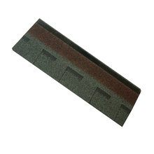 Green Color 3-tab Asphalt Shingle / Plain Asphalt Roofing Shingle