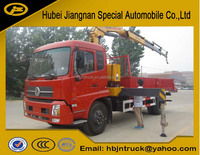 6.3ton DongFeng knuckle boom truck crane
