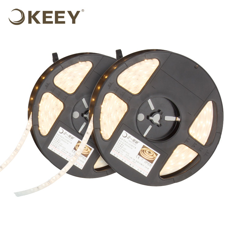 KEEY 3528 SMD High Light Soft Non-dimmable 2m / 3m Led Light Strip Wholesale Warm White QYR4-DD401W-2