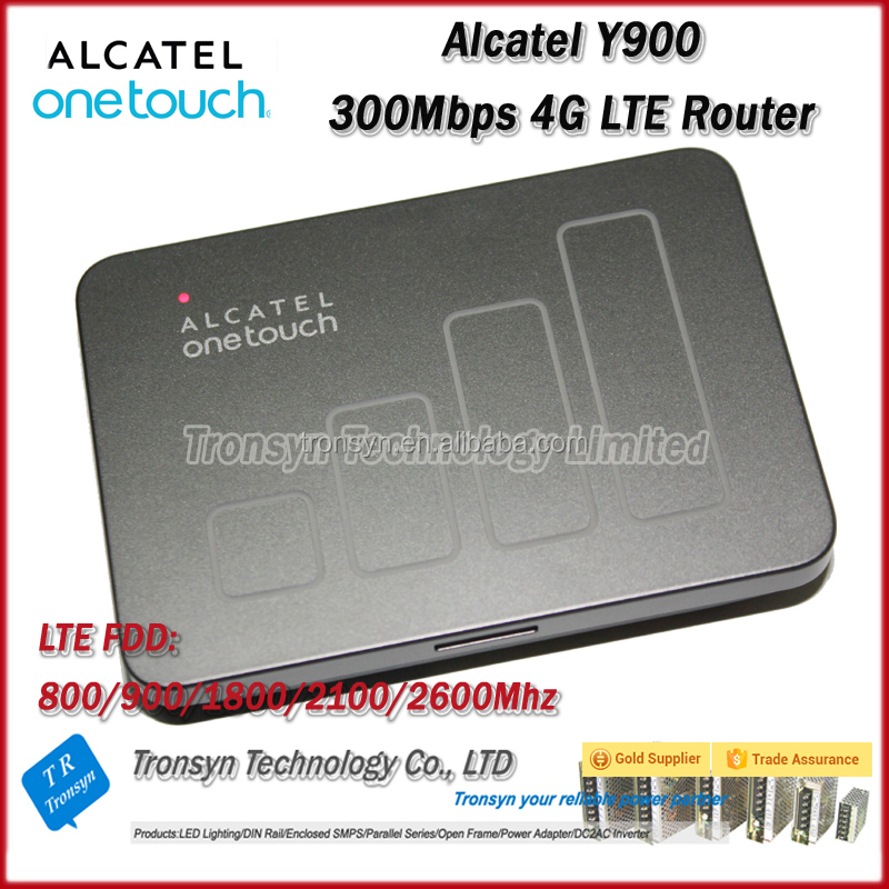 New Arrival Original Unlock Alcatel Y900 Cat6 300Mbps 4G Wireless Router With Sim Card Slot And 4G LTE Car WiFi Router