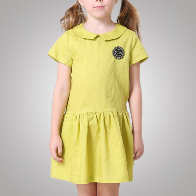Stretchable Peter Pan Collar Luxury Baby Cloth Dress Bodycon